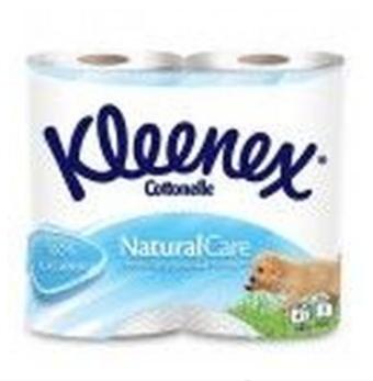 Туалетная бумага Kleenex, 3 слоя, 4 рулона, белая