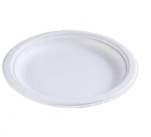 Тарелка бумажная, Эко d=22см белая, 125шт