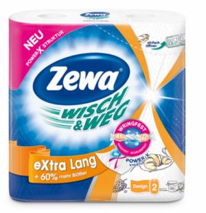 Полотенца целлюлозные ZEWA Wisch & Weg EL Original 260х240мм,  2слоя, 2рулона, белые