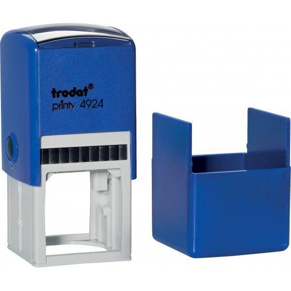 Оснастка для штампа или печати 40х40мм TRODAT с колпачком, темно-синий корпус