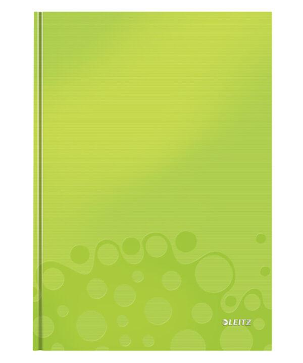Книга канцелярская Leitz WOW A4, 80 листов, твердая обложка, клетка, зеленый металлик