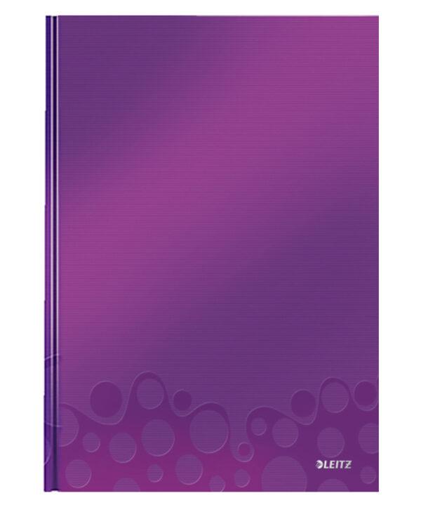 Книга канцелярская Leitz WOW A4, 80 листов, твердая обложка, линия, фиолетовый металлик
