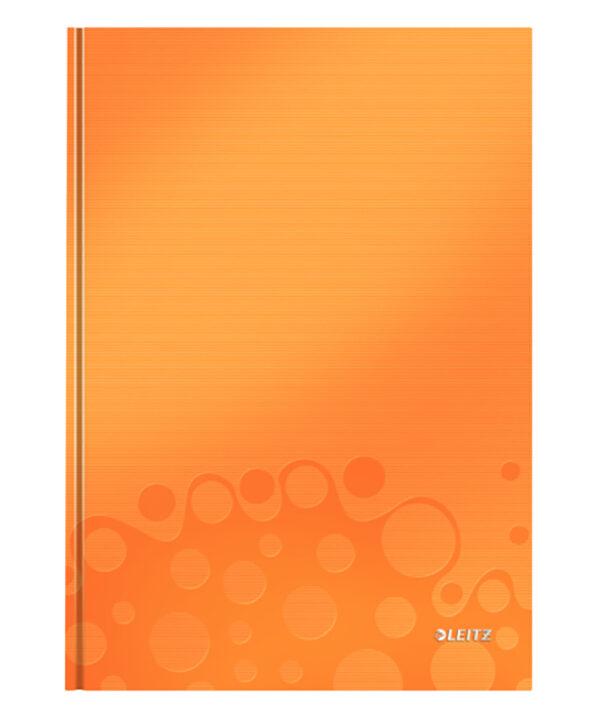 Книга канцелярская Leitz WOW A4, 80 листов, твердая обложка, клетка, оранжевый металлик