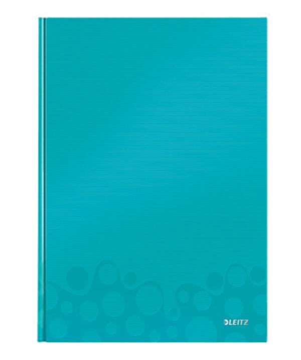 Книга канцелярская Leitz WOW A4, 80 листов, твердая обложка, линия, бирюзовый металлик