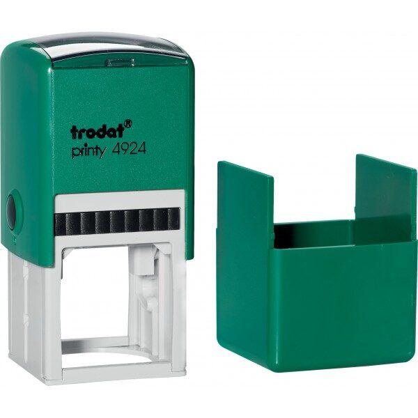 Оснастка для штампа или печати 40х40мм TRODAT с колпачком, зеленый корпус