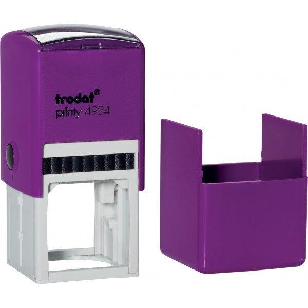 Оснастка для штампа или печати 40х40мм TRODAT с колпачком, фиолетовый корпус