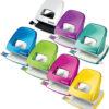 Дырокол пластиковый Leitz NeXXt WOW, пробивает до 30 листов, фиолетовый металлик 56455