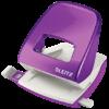 Дырокол пластиковый Leitz NeXXt WOW, пробивает до 30 листов, фиолетовый металлик
