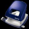 Дырокол пластиковый Leitz New NeXXt Style, пробивает до 30 листов, синий титан