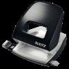 Дырокол пластиковый Leitz New NeXXt Style, пробивает до 30 листов, черная сталь