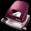 Дырокол пластиковый Leitz New NeXXt Style, пробивает до 30 листов, красный гранат