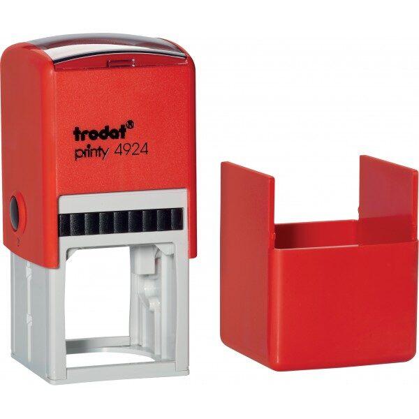 Оснастка для штампа или печати 40х40мм TRODAT с колпачком, красный корпус