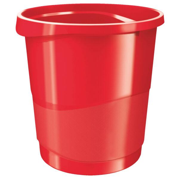 Корзина для бумаг пластиковая Esselte Vivida, 14л, красная