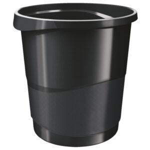 Корзина для бумаг пластиковая Esselte Vivida, 14л, черная