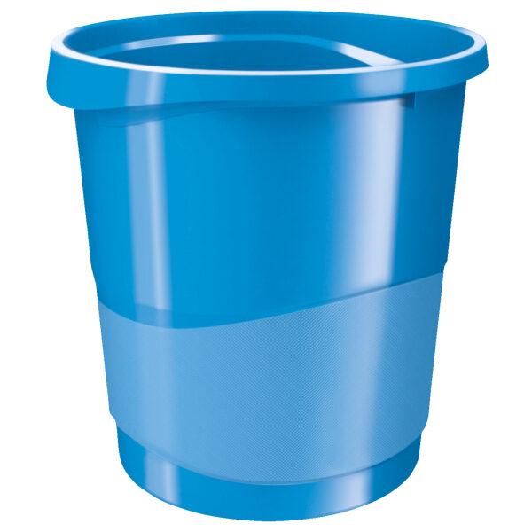 Корзина для бумаг пластиковая Esselte Vivida, 14л, синяя