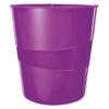 Корзина для бумаг пластиковая Leitz WOW, 15л, фиолетовый металлик