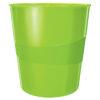 Корзина для бумаг пластиковая Leitz WOW, 15л, зеленый металлик