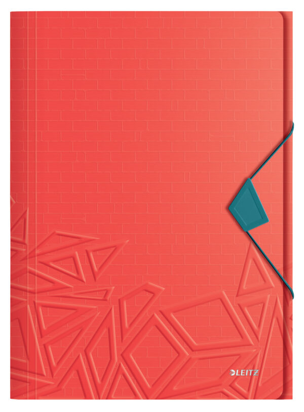 Папка на резинке Leitz Urban Chic A4, PP, на 150 листов, красная