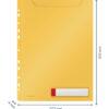Файл для документов Leitz Cosy РР А4 на 150 листов, 3шт, желтый, с расширением 56581
