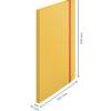 Папка пластиковая А4, Leitz Cosy РР с 20 файлами, на резинке, желтая 56317