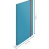 Папка пластиковая А4, Leitz Cosy РР с 20 файлами, на резинке, синяя 56321
