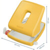Дырокол пластиковый Leitz Cosy, пробивает до 30 листов, желтый 56475