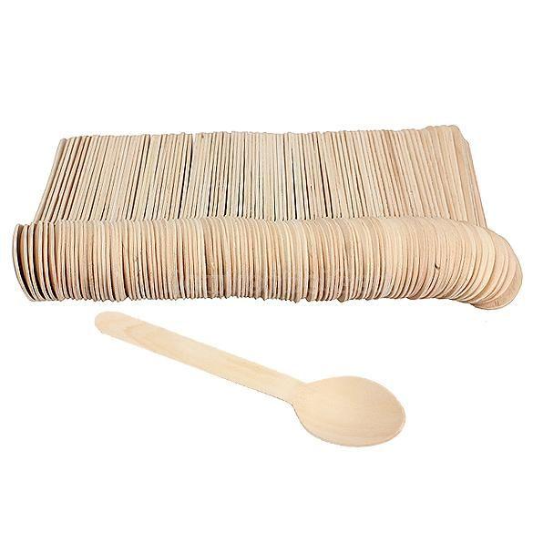 Ложка столовая деревянная 15,7см, 100шт