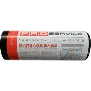 Пакеты для мусора PRO-16201771черные 120л, 10шт, 21мкм ЛД