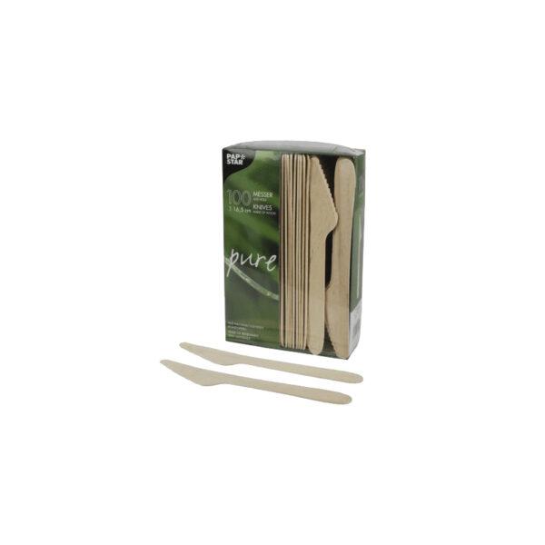 Нож деревянный 16,5см, 100шт