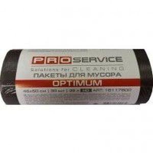 Пакеты для мусора PRO-16117800 OPTIMUM, черные 35л, 30шт, 7мк