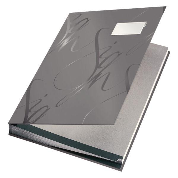 Папка на подпись LEITZ Design Signature Book А4, 18 отделений, серая