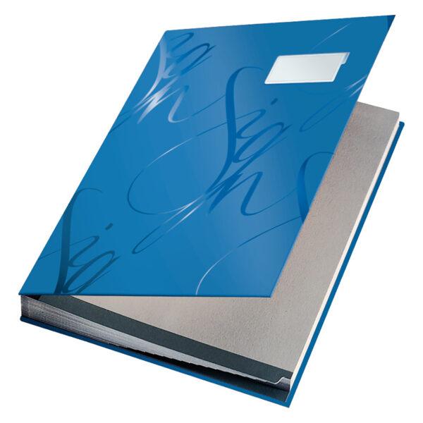Папка на подпись LEITZ Design Signature Book А4, 18 отделений, синяя
