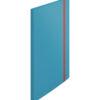 Папка пластиковая А4, Leitz Cosy РР с 20 файлами, на резинке, синяя