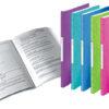 Папка пластиковая А4, Leitz WOW с 20 файлами, фиолетовая 56333