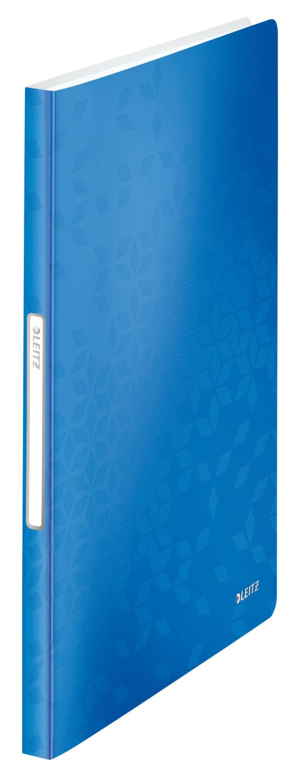 Папка пластиковая А4, Leitz WOW с 20 файлами, синяя