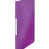 Папка пластиковая А4, Leitz WOW с 20 файлами, фиолетовая