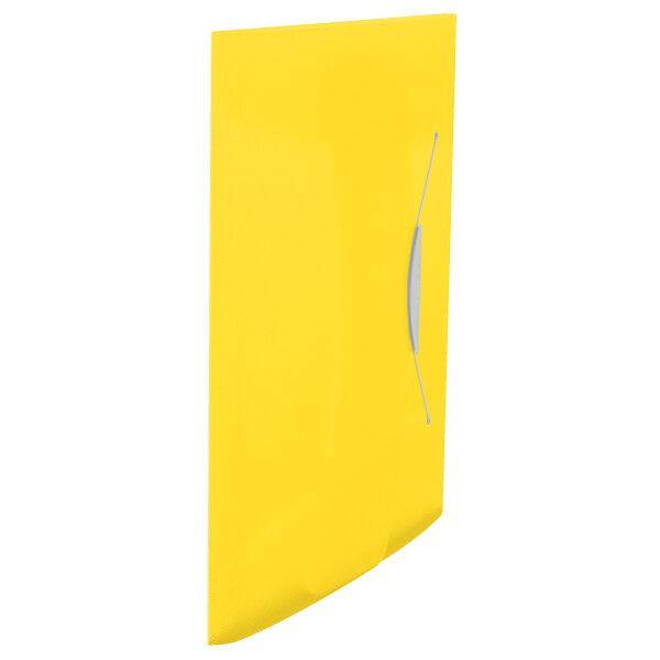 Папка на резинке А4, Esselte Vivida PP на 150 листов, желтая