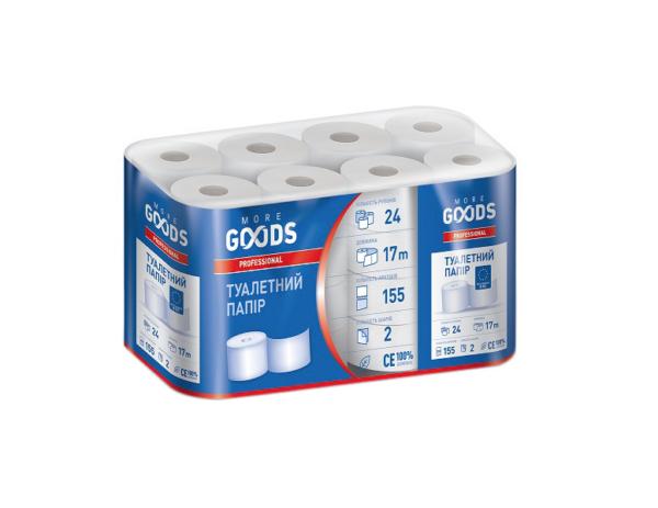 Туалетная бумага More Goods 2 слоя, 24 рулона, 17м, белая