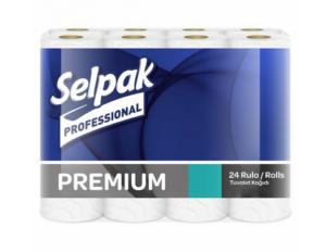 Туалетная бумага SELPAK Pro Premium, 3 слоя, 150 отрывов, 18,6 м, 24 рулона, белая
