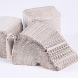Туалетная бумага Z-BEST, Эко 1 слой, 250листов, белая