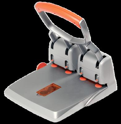 Дырокол профессиональный RAPID HDC 150/4 серебряный/оранжевый