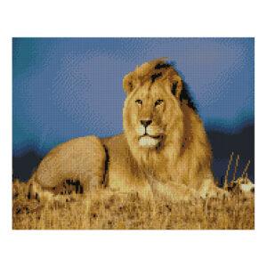 Алмазная мозаика Strateg «Царь зверей», 40х50 см