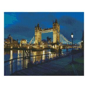 Алмазная мозаика Strateg «Тауэрский мост», 40х50 см