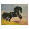 Алмазная мозаика Strateg «Вороной конь», 40х50 см