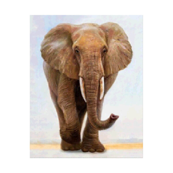 Алмазная мозаика Strateg «Величественный слон» 40х50 см