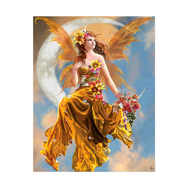 Алмазная мозаика Strateg «Девушка на луне 2» 40х50 см