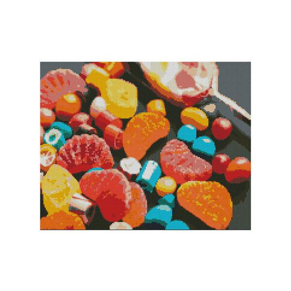 Алмазная мозаика Strateg «Радость сладкоежки» 40х50 см