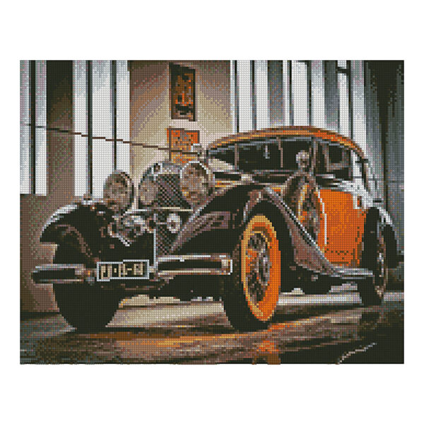 Алмазная мозаика Strateg «Старинное авто» 40х50 см