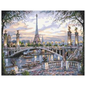Картина для росписи по номерам «Вечерний Париж», 40х50см