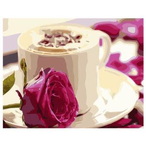 Картина для росписи по номерам «Утренний кофе», 40х50см